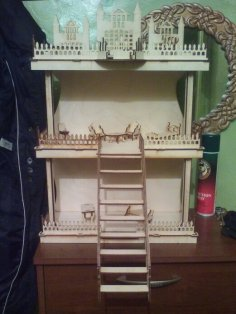 Laser Cut Dollhouse Template Free Vector