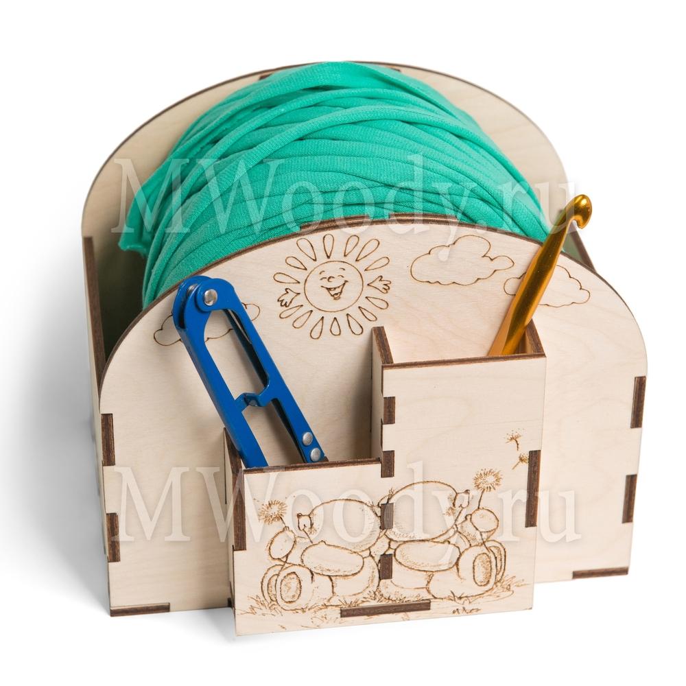 Laser Cut Crochet Bobbin Holder Yarn Holder Spinner Organizer Free Vector
