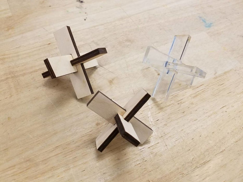 Laser Cut Wooden Puzzle DXF File
