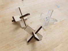 Laser Cut Wooden Puzzle DXF File