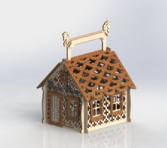 Laser Cut Candy House Free Vector