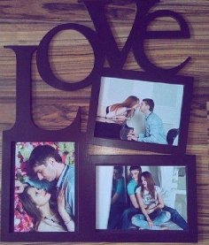 Laser Cut February 14 Photo Frames Free Vector