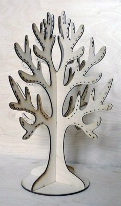 Laser Cut Plywood Tree For Decorations Free Vector