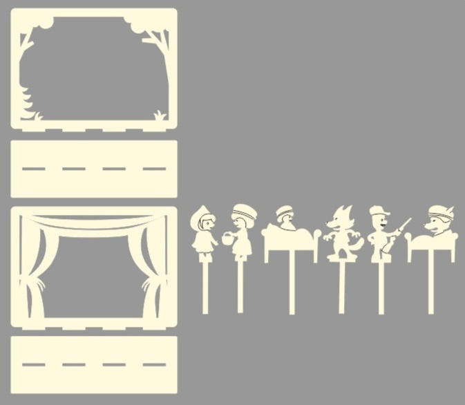 Laser Cut Shadow Theater Free Vector