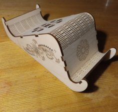 Laser Cut Decor Engraved Wooden Mobile Holder Desk Phone Stand Free Vector