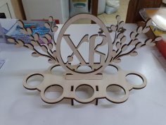Laser Cut Easter Egg Display Stand Free Vector