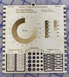 Laser Cut Material Testing Board Template Free Vector