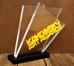 Laser Cut Acrylic Award Trophy Free Vector