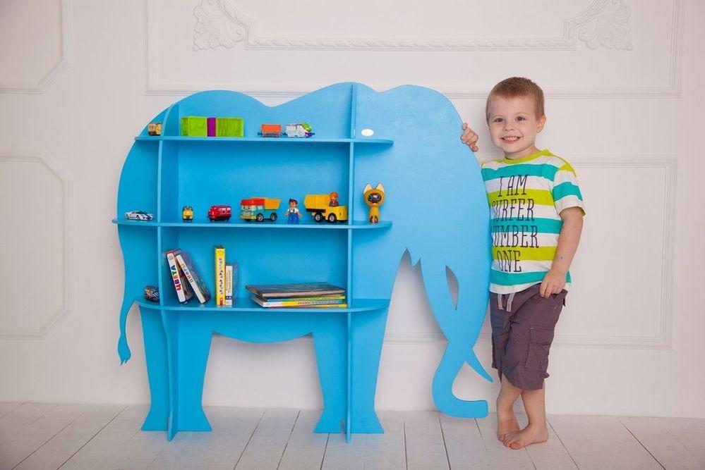 Laser Cut Wood Elephant Shelf Shelf Furniture For Kids Room Free Vector