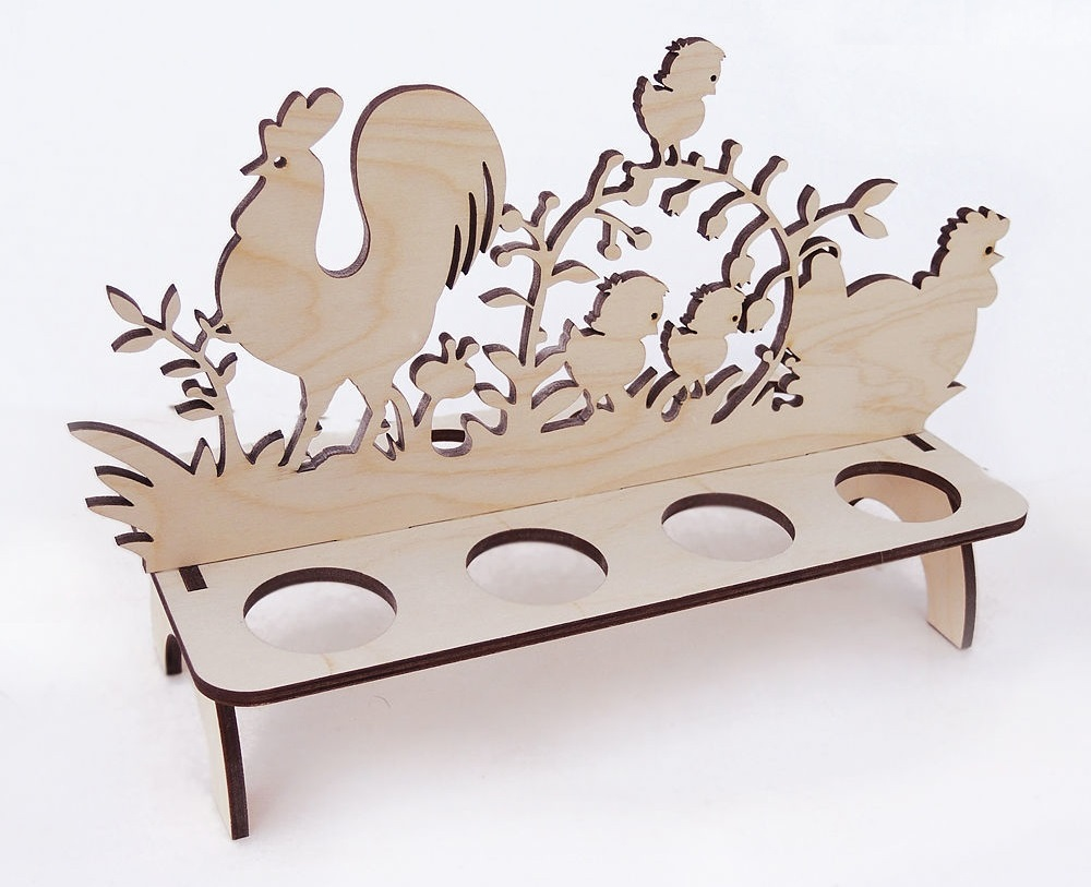 Laser Cut Easter Egg Stand Template DXF File