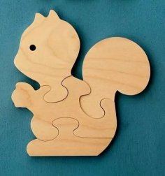 Bunny Rabbit Jigsaw Puzzle CNC Laser Plans DWG File