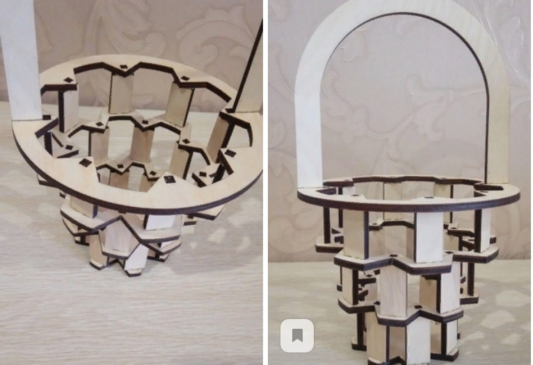 Laser Cut Wooden Candy Basket Free Vector