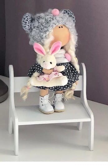 Laser Cut Doll Chair Miniature Dollhouse Bench Kids Gift Free Vector