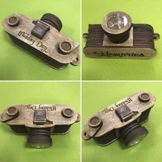 Laser Cut Wooden Camera Free Vector