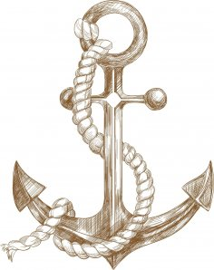 Laser Engraving Nautical Anchor Decor Free Vector