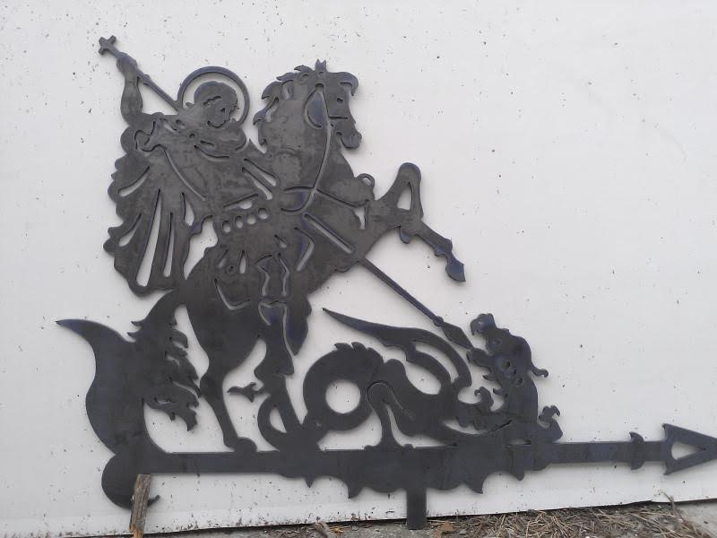 Laser Cut Saint George The Victorious Weathervane DXF File