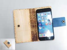 Laser Cut Wooden Phone Case DXF File