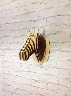 Laser Cut Horse Head Trophy Free Vector