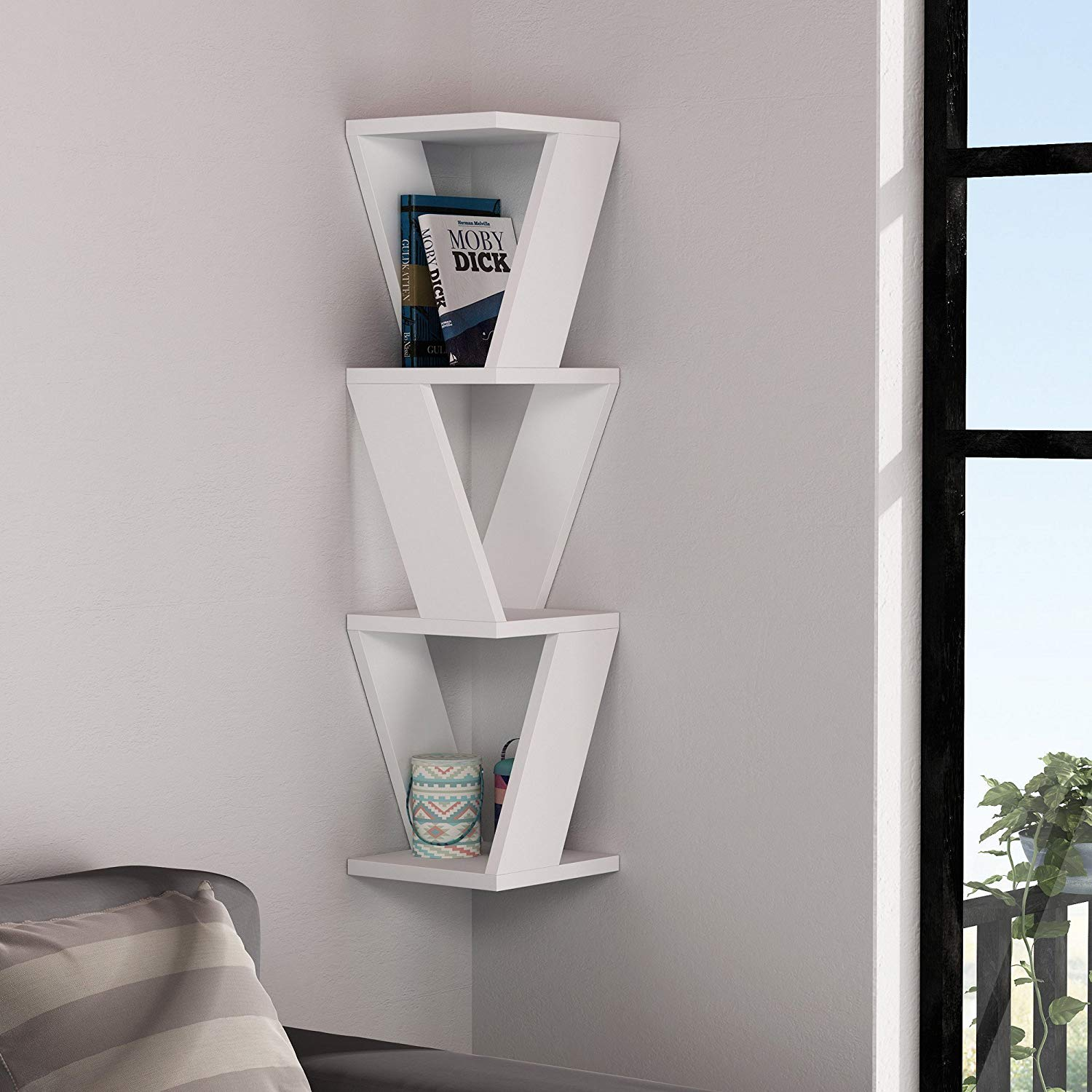 Laser Cut Stylish Wall Shelf DXF File