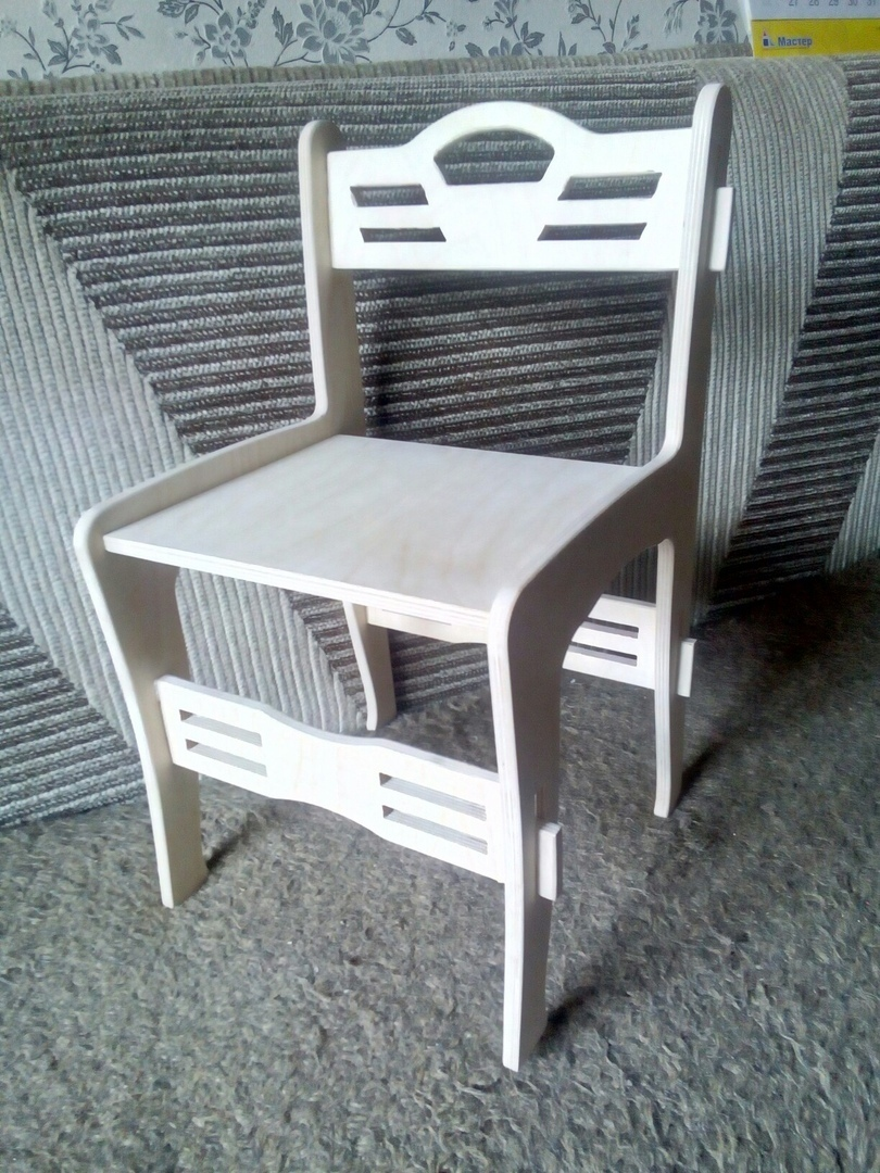 Laser Cut Chair CNC Template DXF File
