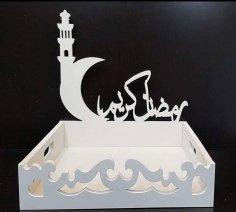 Laser Cut Ramadan Kareem Box Tray Free Vector