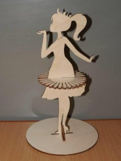 Laser Cut Princess Napkin Holder Plywood Template Free Vector