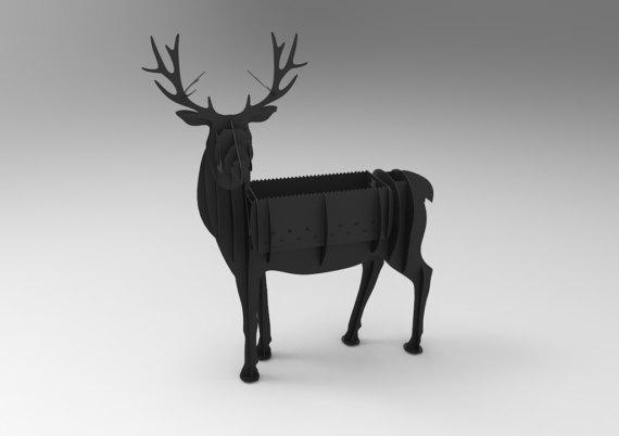 Deer BBQ cnc vector plan Free Vector