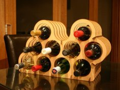 Asymmetrical Wine Rack Laser Cut DXF File