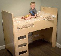 Bunk Bed for Kids Laser Cut CNC Plan Free Vector