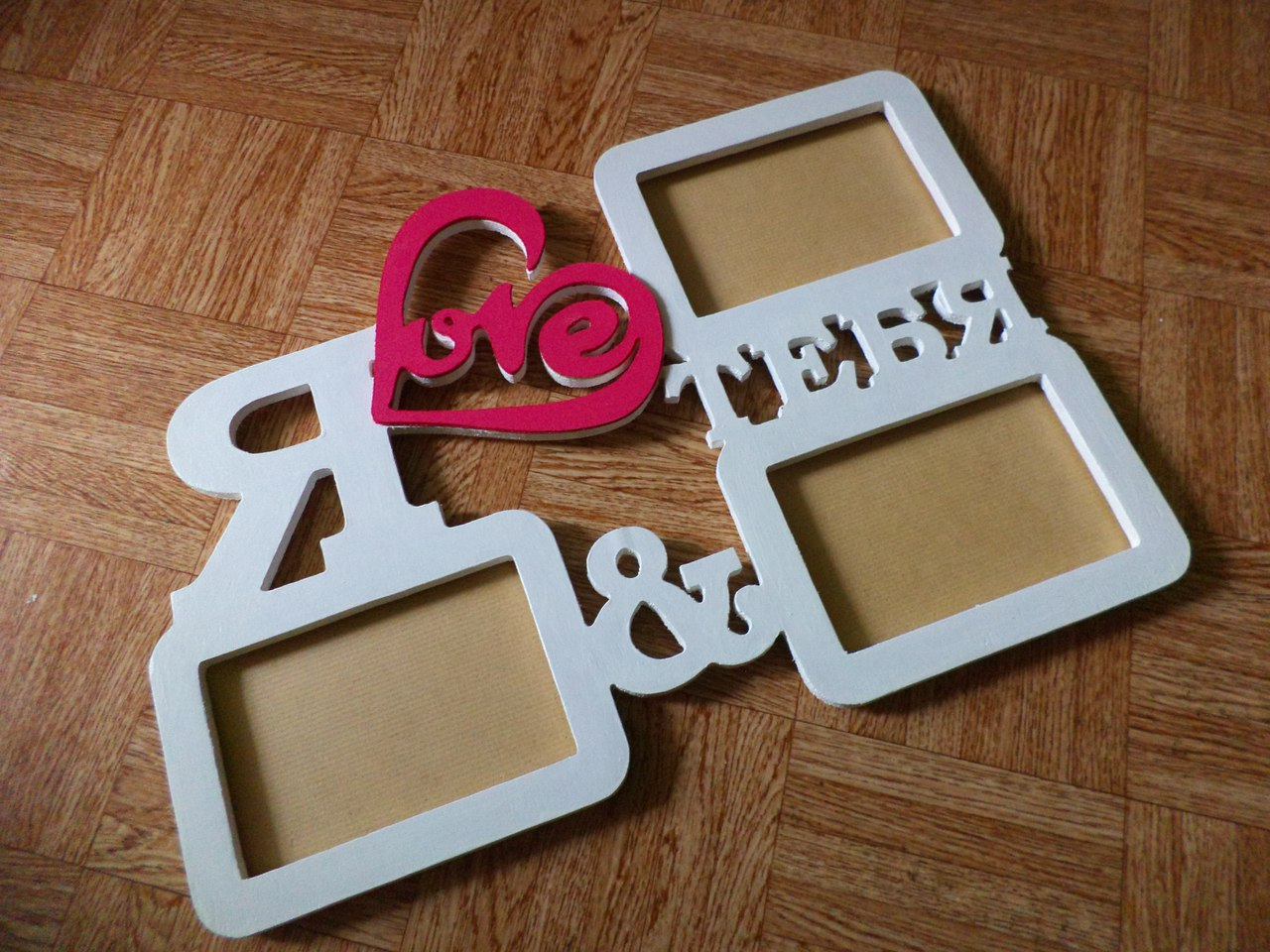 Picture frame I love you
