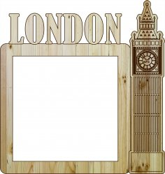 Laser Cut Photo Frame London DXF File