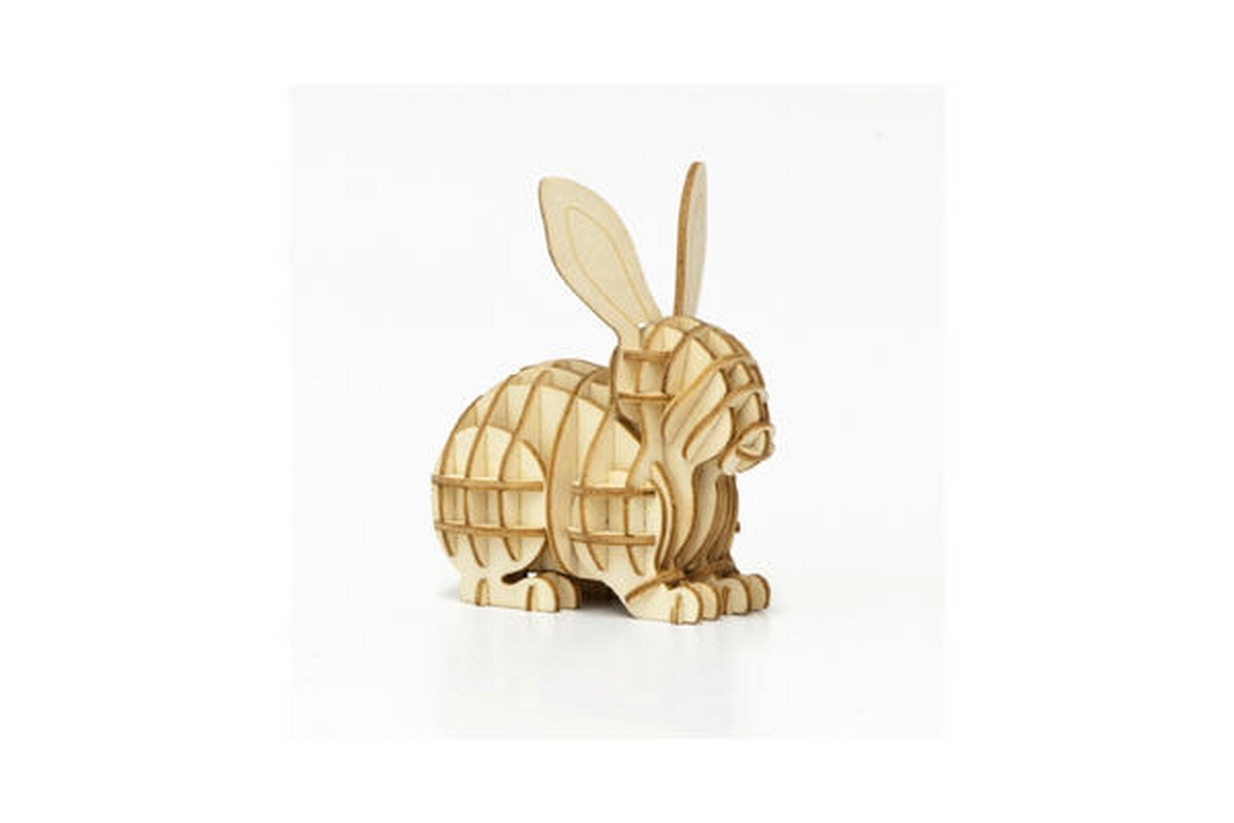 Rabbit 3D Puzzle DXF File