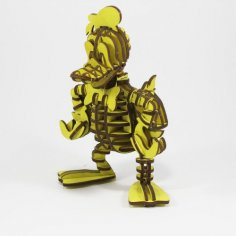 Donald Duck 3D Puzzle DXF File