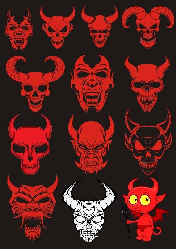 Devils Sets Free Vector