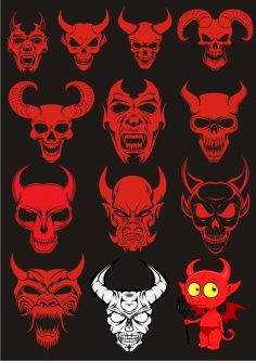 Devils Sets Free Vector