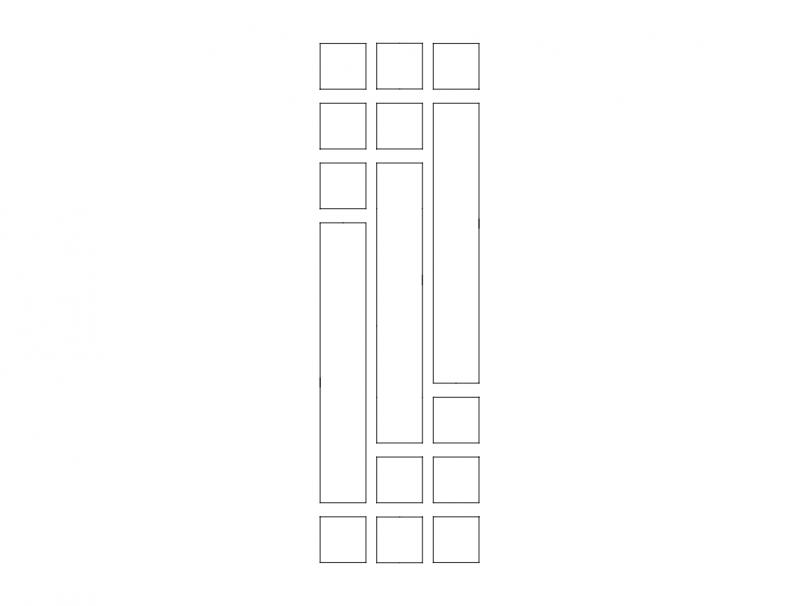 Mdf Door Design 14 dxf File