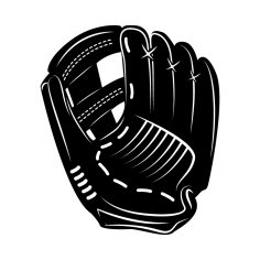 Baseball Gloves dxf File
