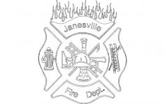 Janesville Fire Dept dxf File