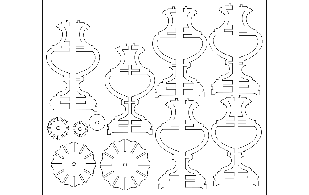 Lamp 2d Flat dxf File