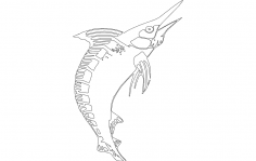 Marlin Fish dxf File