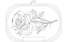 Rose dxf File
