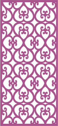 Laser Cut Vector Panel Seamless 283 Free Vector