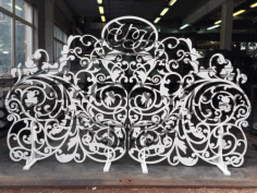 Openwork Wedding Screen Free Vector