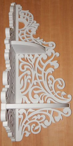 Corner Shelf Scroll Saw Pattern CNC Plans PDF File