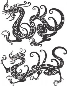 Chinese New Year Golden Dragon Vector CDR File