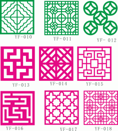 Fence Collection Patterns Free Vector