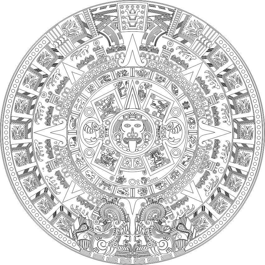 Aztec Calender Free Vector