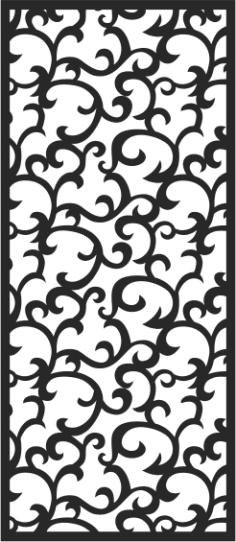 Seamless swirl floral pattern Free Vector