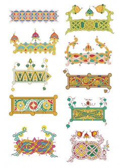 Patterns In Russian Style Free Vector