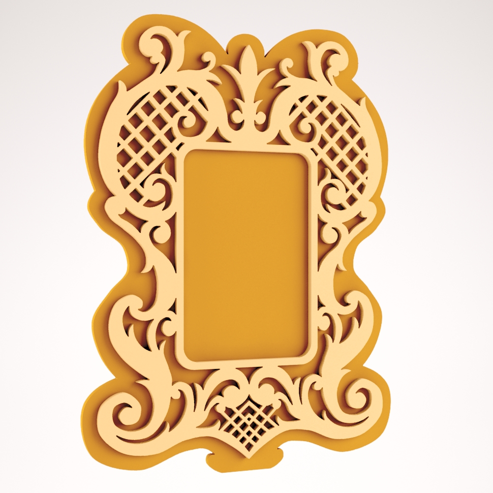 Nice mirror frame DXF File